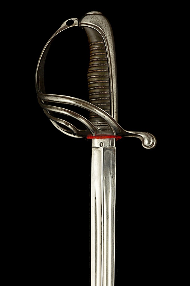 S000007_French_African_Army_Sword_Hilt_Obverse_