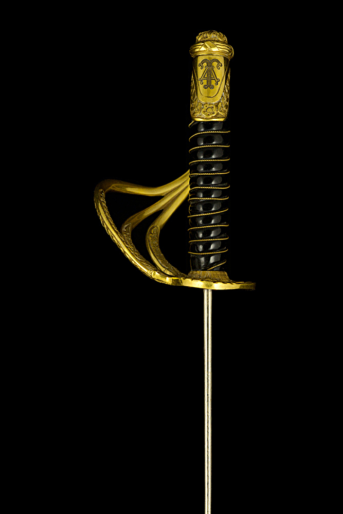 S000036_Belgian_Officer_Sword_LIII_Hilt_Left_Side