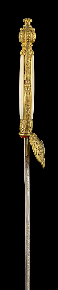 S000040_French_St-Etienne_Smallsword_Hilt_Right_Side