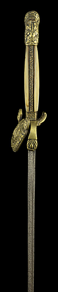 S000107_Belgian_Administration_Smallsword_Hilt_Left_Side