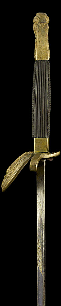 S000118_Belgian_Bandsman_Smallsword_Hilt_Left_Side