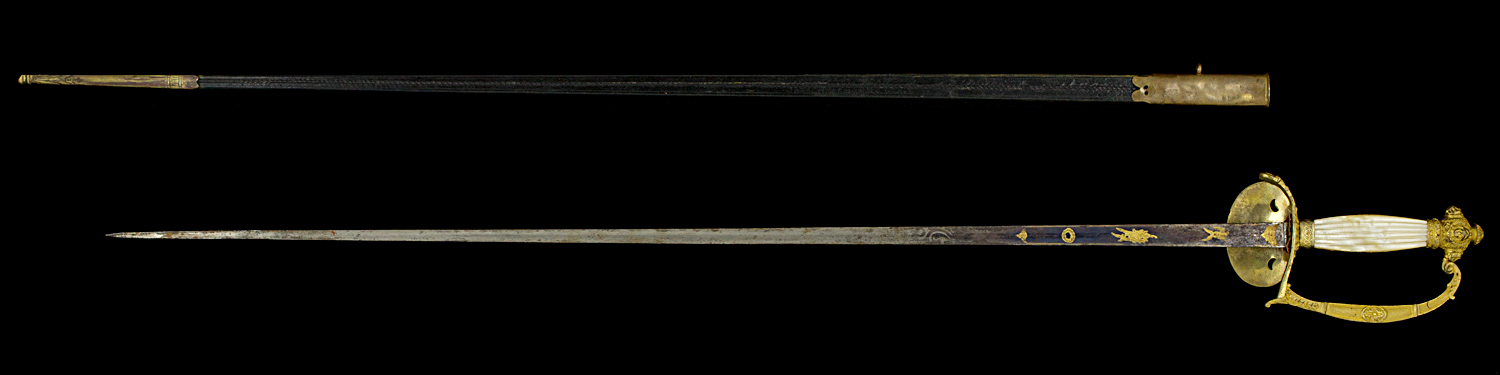S000010_French_Presidency_Smallsword_Full_Reverse_Next_to_Scabbard