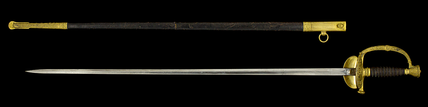 S000013_French_Marine_Inspector_Smallsword_Full_Obverse_Next_to_Scabbard