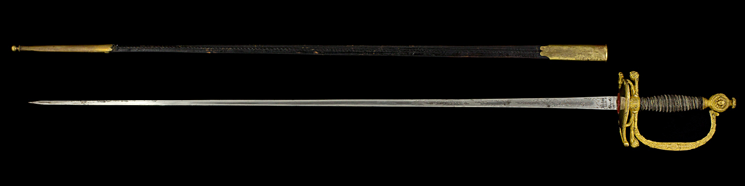 S000021_French_Empress_Guard_Smallsword_Full_Reverse_Next_to_Scabbard