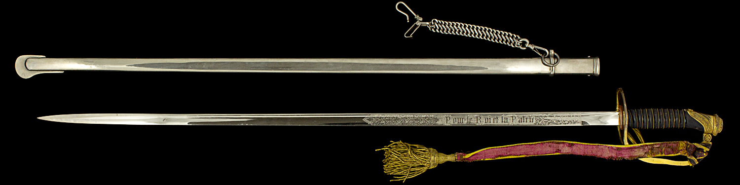 S000035_Belgian_Officer_Sword_AI_Full_Reverse_Next_to_Scabbard