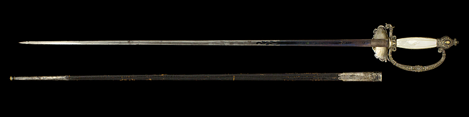 S000037_French_Presidency_Smallsword_Full_Reverse_Next_to_Scabbard