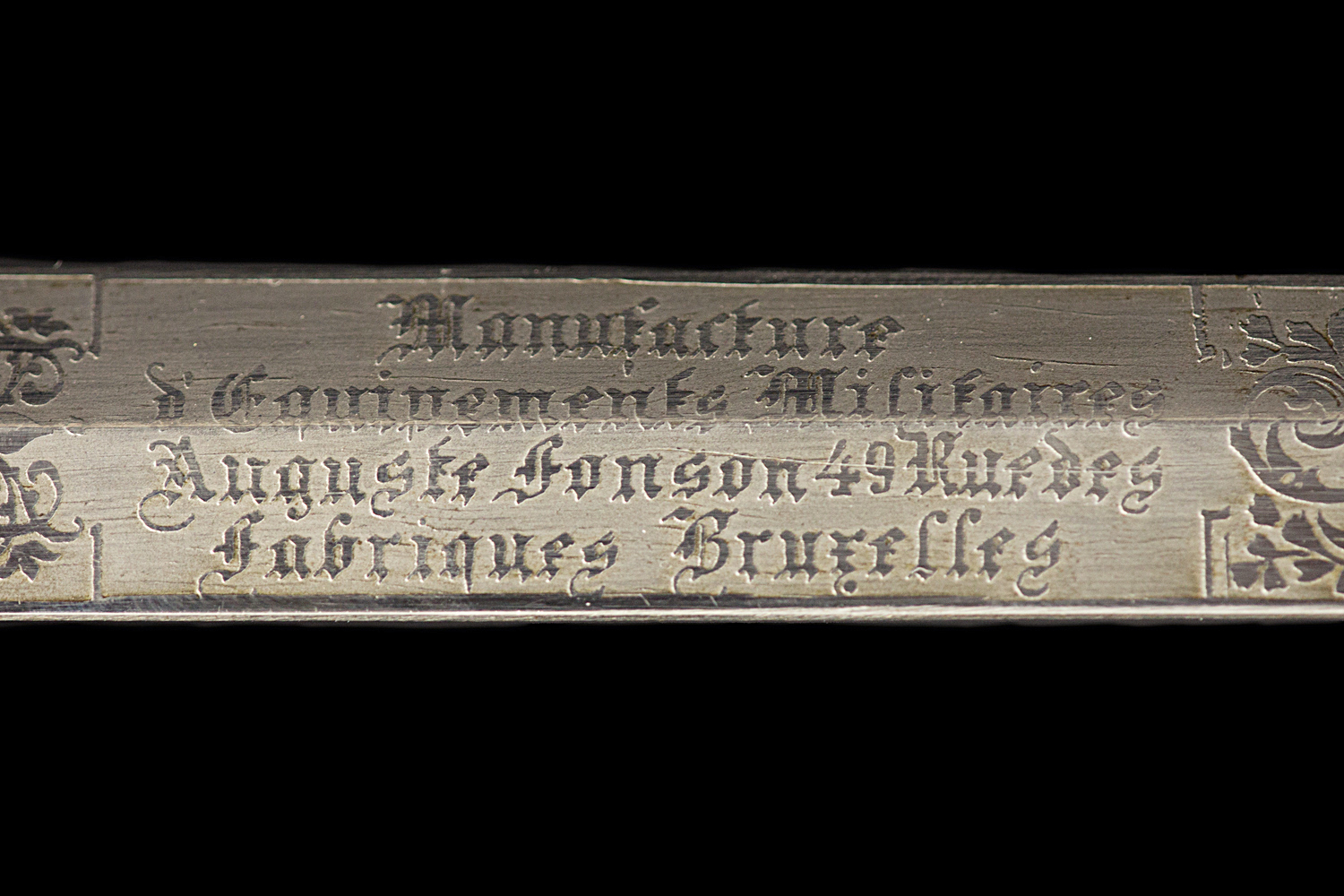S000047_Belgian_Smallsword_Detail_Blade_Mark_Obverse
