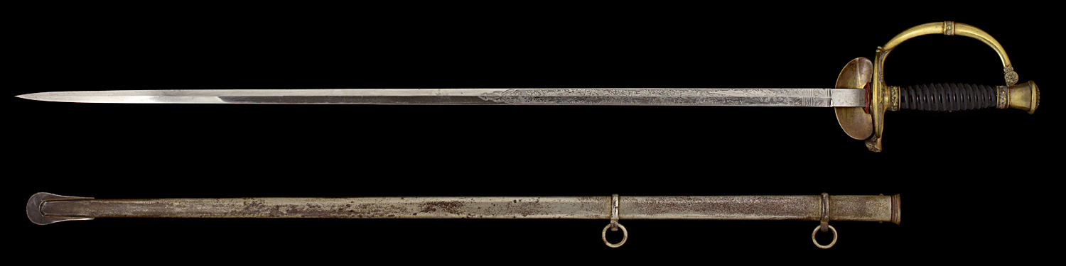 S000047_Belgian_Smallsword_Full_Obverse_Next_to_Scabbard
