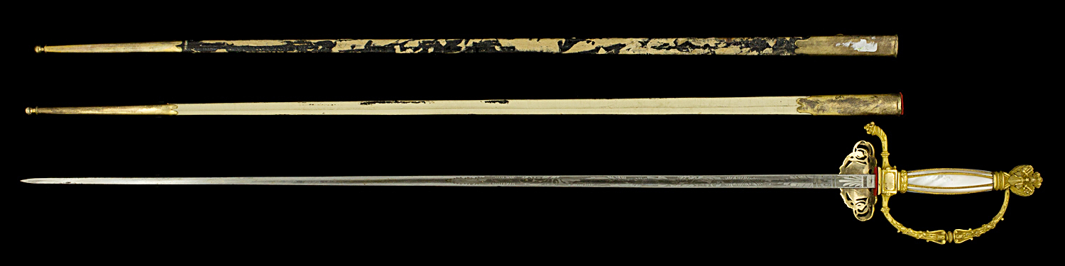 S000057_French_Ambassador_Smallsword_Full_Reverse_Next_to_Scabbard