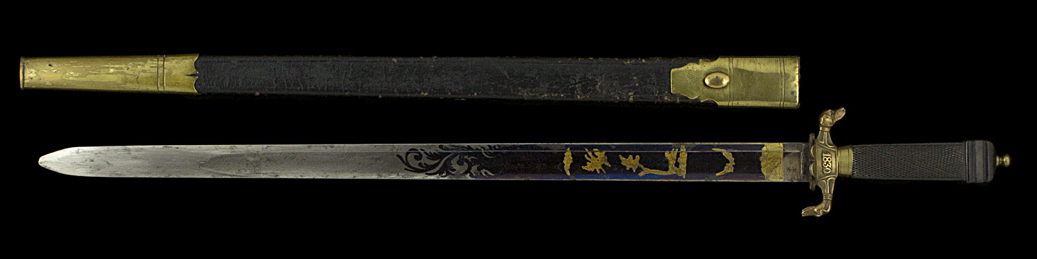 S000087_Belgian_Wounded_of_September_Gladius_Full_Obverse_Next_to_Scabbard