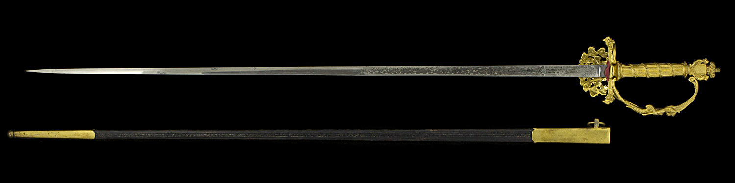 S000092_Belgian_Smallsword_Full_Reverse_Next_to_Scabbard
