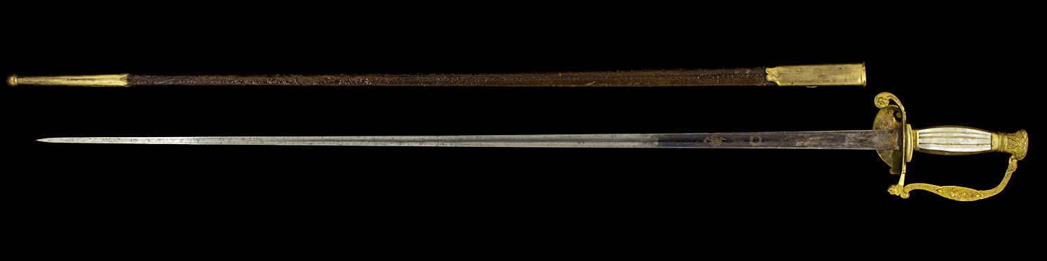 S000099_French_Smallsword_Full_Reverse_Next_to_Scabbard
