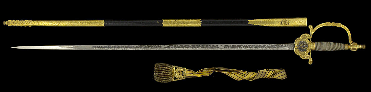 S000103_Scottish_Court_Smallsword_Full_Obverse_Next_to_Scabbard