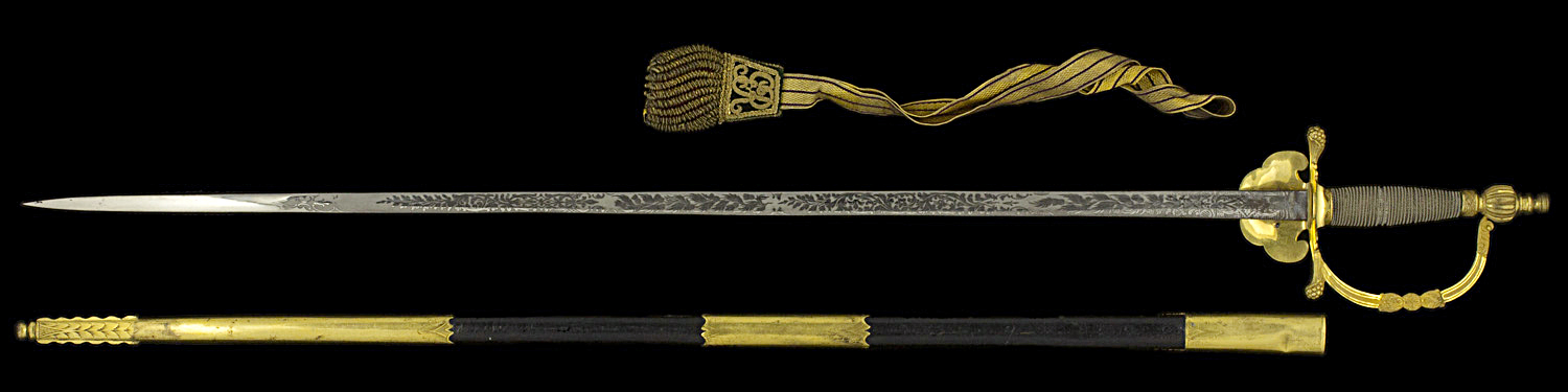S000103_Scottish_Court_Smallsword_Full_Reverse_Next_to_Scabbard