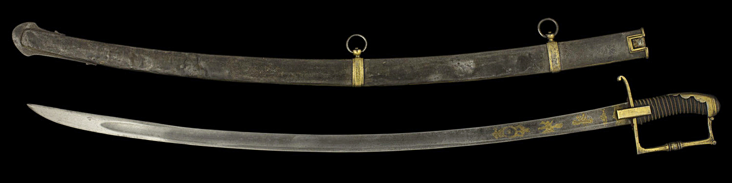 S000122_American_Light_Cavalry_Sabre_Full_Reverse_Next_to_Scabbard