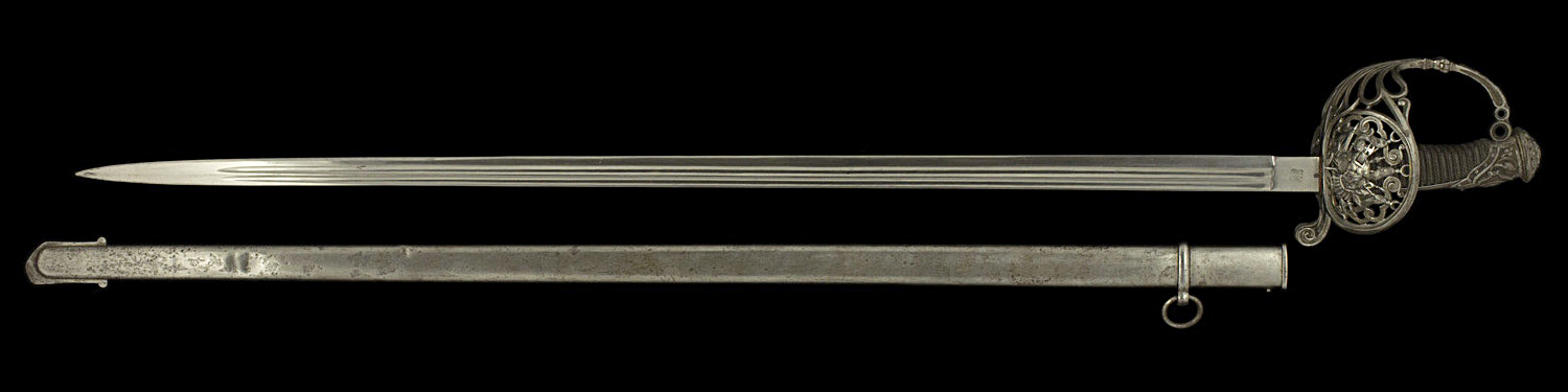 S000127_French_Presentation_Sword_Full_Obverse_Next_to_Scabbard
