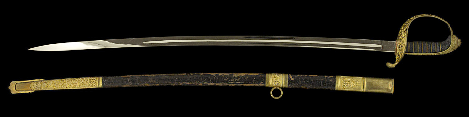 S000131_Austrian_Sabre_Full_Obverse_Next_to_Scabbard