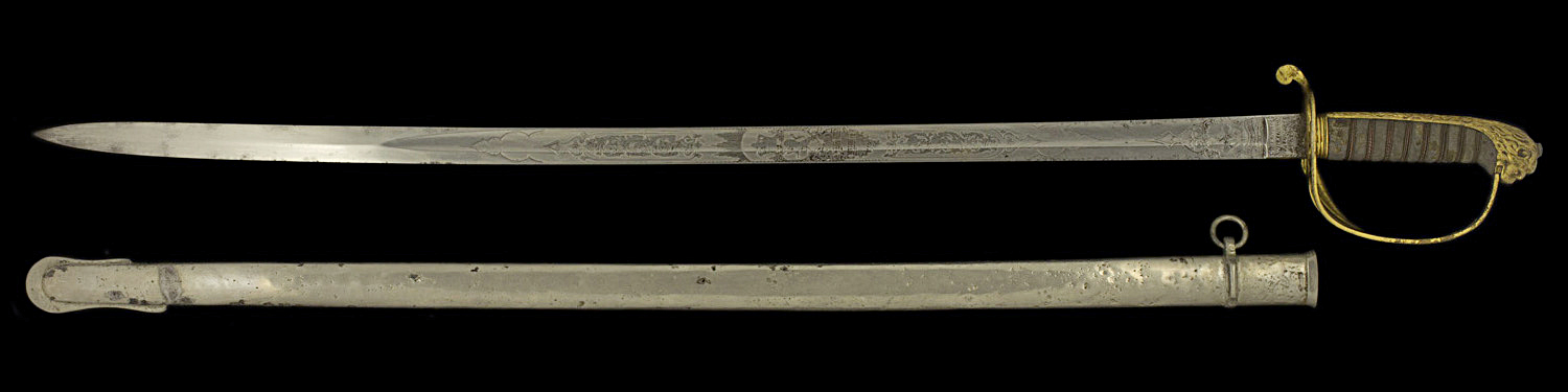 S000132_British_Saber_to_a_Belgian_Full_Reverse_Next_to_Scabbard